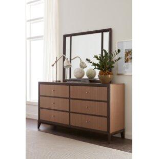 Coletta 6 Drawer Double Dresser with Mirror