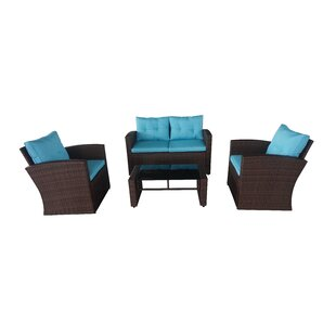 Crosson 4 Piece Sofa Set with Cushions