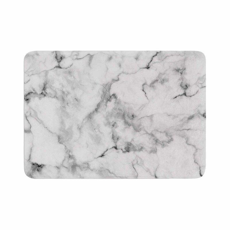Marble Memory Foam Bath Rug