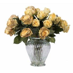 Roses Centerpiece in Decorative Vase