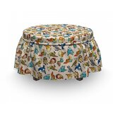 Childish Funny Cartoon Ottoman Slipcover (Set of 2) by East Urban Home