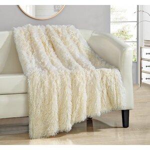 Kostya Shaggy Faux Fur Supersoft Ultra Plush Decorative Throw Blanket