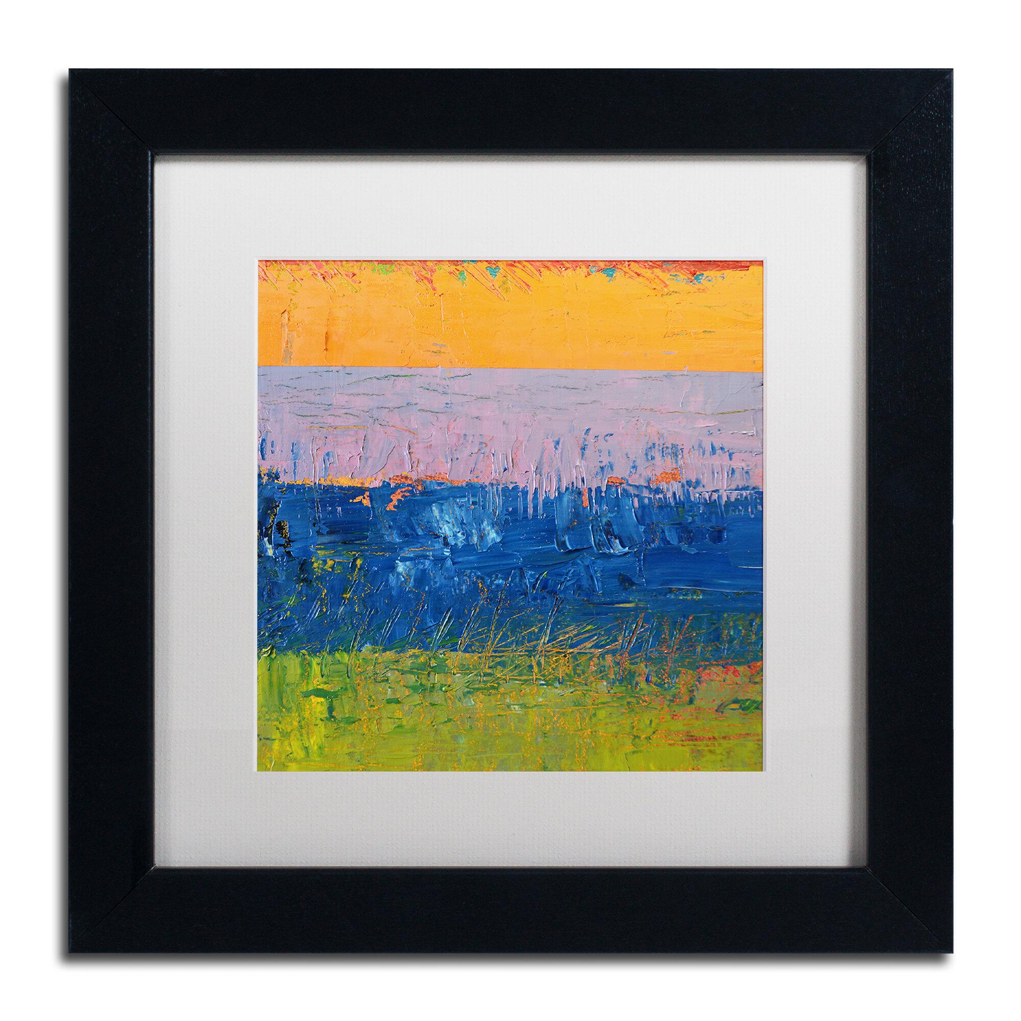 Trademark Art Thistle Field By Michelle Calkins Framed Print On Canvas Wayfair