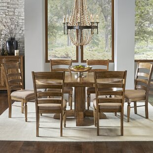 Ian 7 Piece Extendable Solid Wood Dining Set