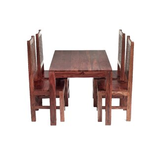 Cube Sheesham Dining Table And 4 Chairs