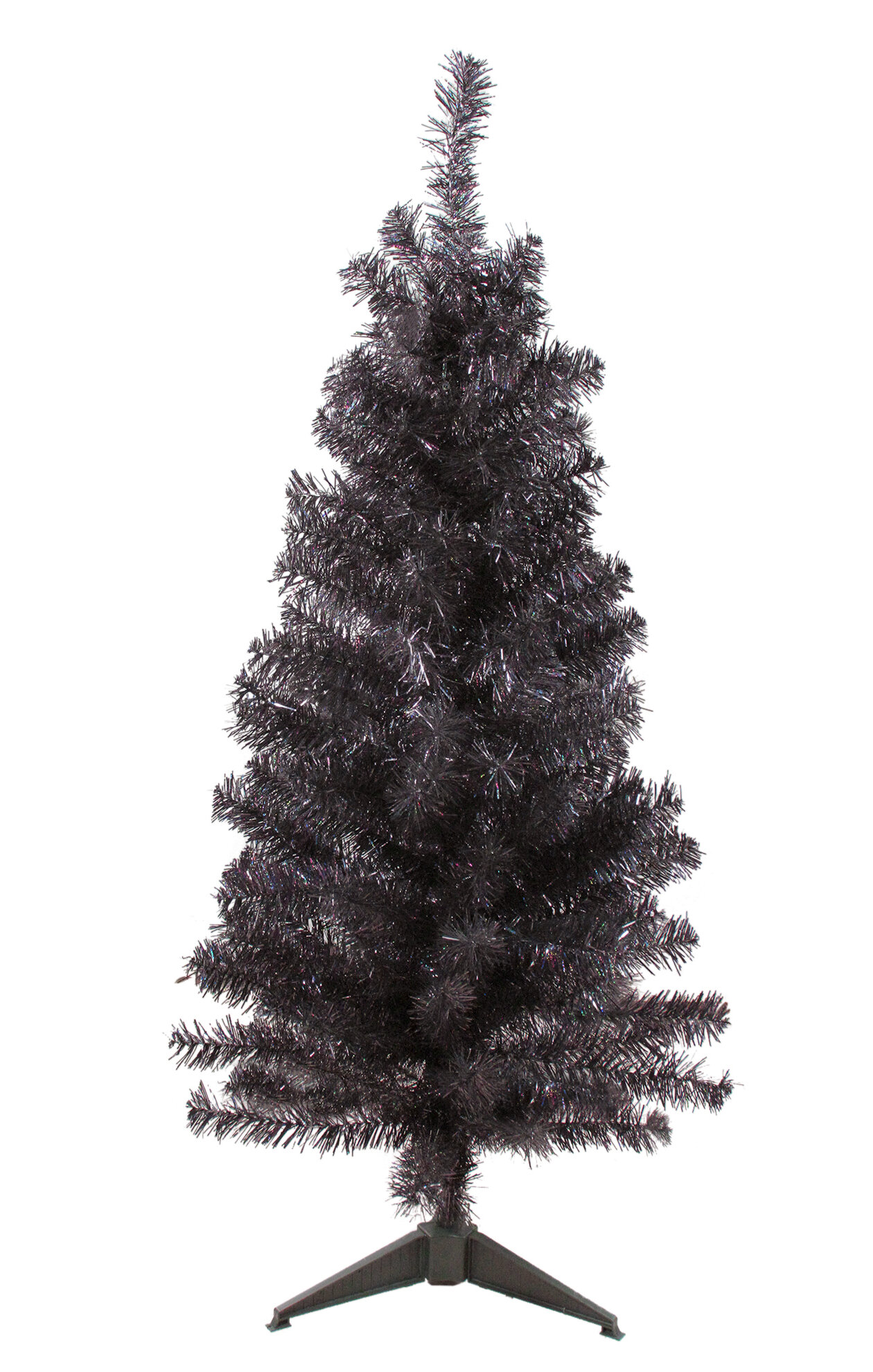Slim Iridescent Tinsel 4' Brown Artifical Christmas Tree