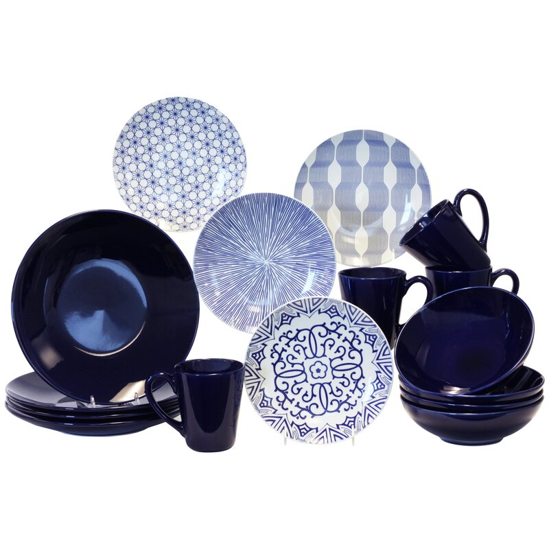 16-Piece Dinnerware Set, Service for 4