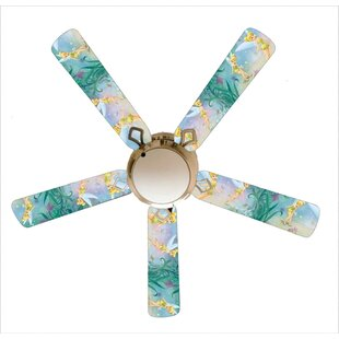 52 Fairy Tinkerbell 5 Blade Ceiling Fan, Light Kit Included by 888 Cool Fans