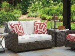 Cypress Point Ocean Terrace Loveseat with Cushions