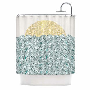Check Prices Sunny Tribal Seas II Shower Curtain ByEast Urban Home