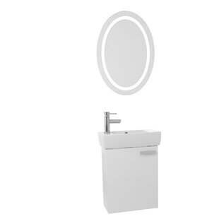 Cubical 19 Single Bathroom Vanity Set with Mirror