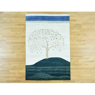 Check Prices One-of-a-Kind Becker Pictorial Design Hand-Knotted Wool Area Rug By Isabelline