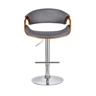 Adeline Adjustable Height Swivel Bar Stool Turn on the Brights