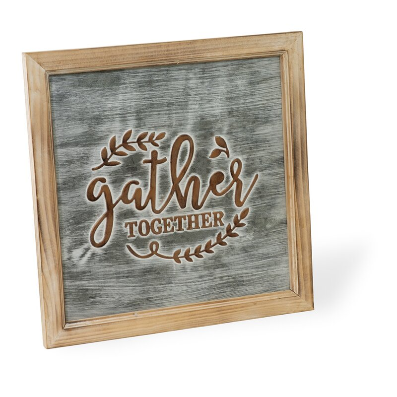 Gather Reverse Canvas  Gather Wood Sign  Canvas  Farmhouse Canvas  Rustic Decor