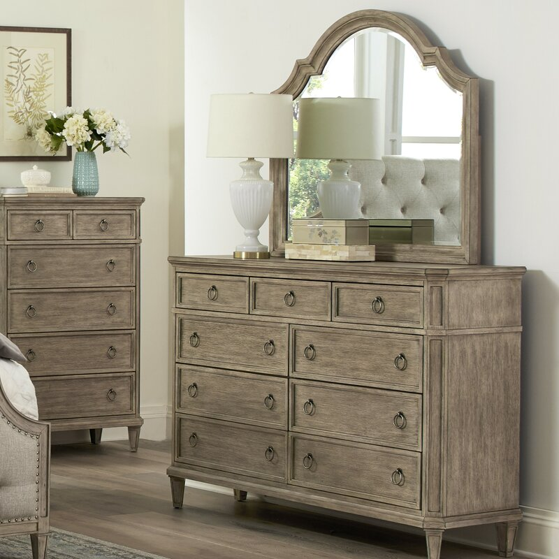 Tuscany 9 Drawers Dresser With Mirror
