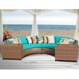 Waterbury 4 Piece Rattan Seating Group with Cushions