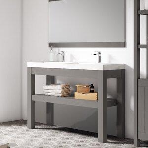 Linebath 121 cm Waschtisch für Doppelbecken Pure