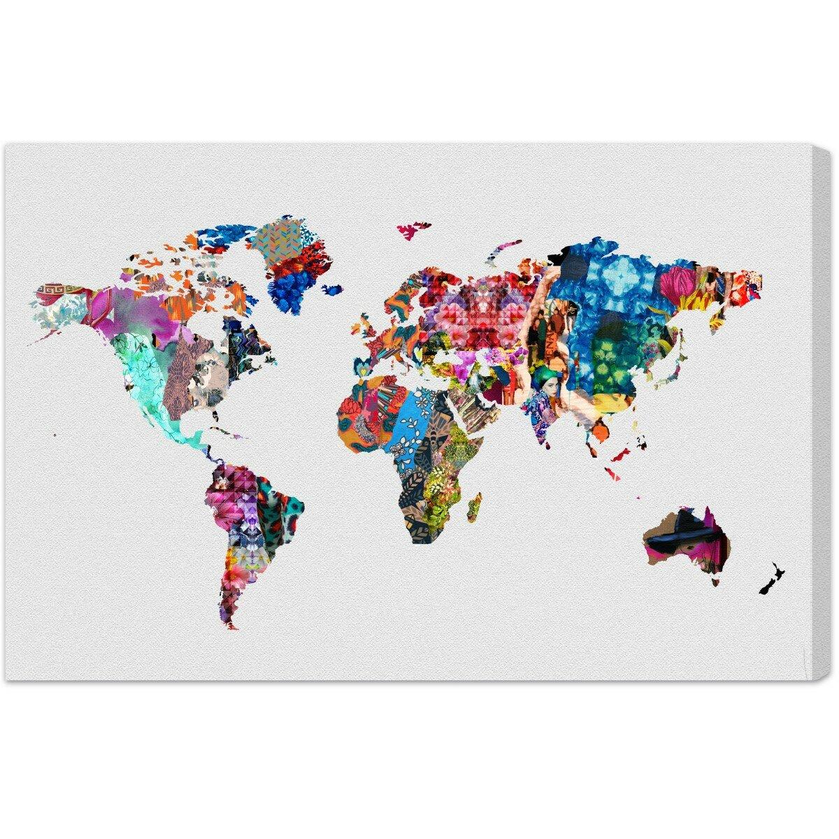 a96252c0a85 Mercury Row Oliver Gal  Mapamundi Maps Art  Wrapped Canvas Print   Reviews