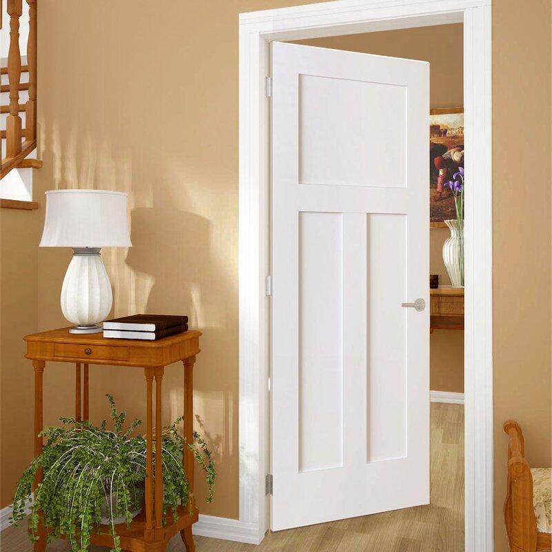 Kiby 3 Panels Shaker Solid Wood Panelled Slab Interior Door Wayfair