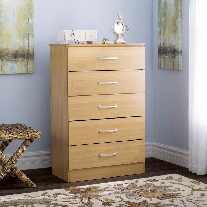 Andover Mills Chester 5 Drawer Chest Reviews Wayfair