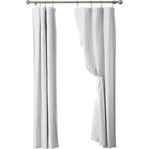 dorset solid blackout thermal grommet curtain liner