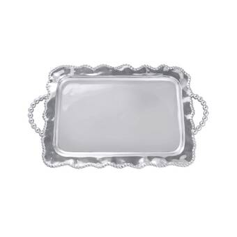 Mariposa 1140 Pearled Tiered Chip /& Dip Silver One Size