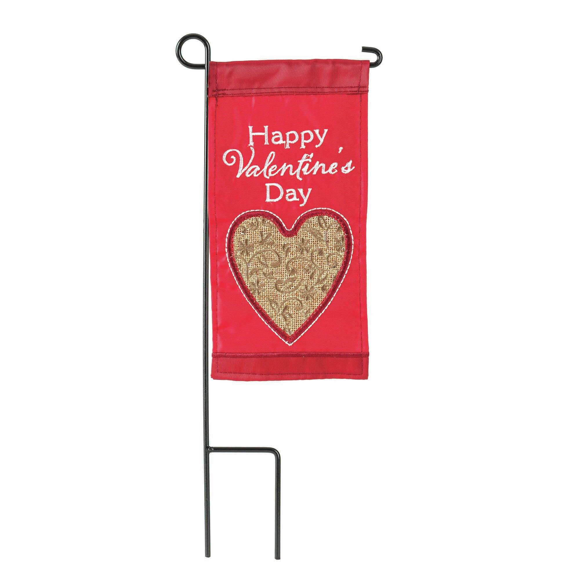 Dicksonsinc Happy Valentine S Day 2 Sided Polyester 8 5 X 4 5 In Garden Flag Wayfair