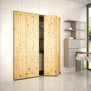 Paneled Manufactured Wood Unfinished Bi Fold Door