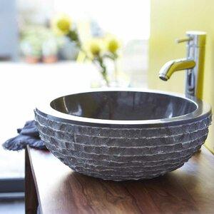 Tikamoon 40 cm Aufsatzwaschbecken Scrula Bamoro