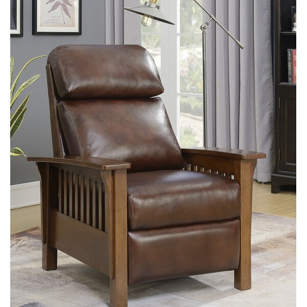Red Barrel Studio Jazmine Genuine Leather Manual Recliner Reviews Wayfair