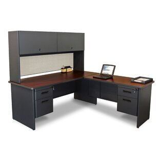 Affordable Pronto Return L-Shape Executive Desk with Hutch By Marvel Office Furniture