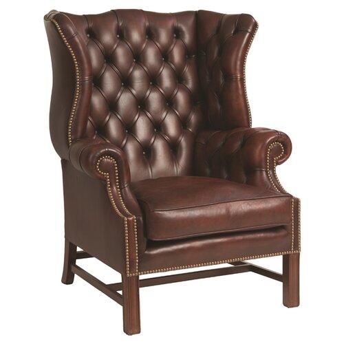 Alata Wingback Chair Rosalind Wheeler Fill Type: Animal Hair