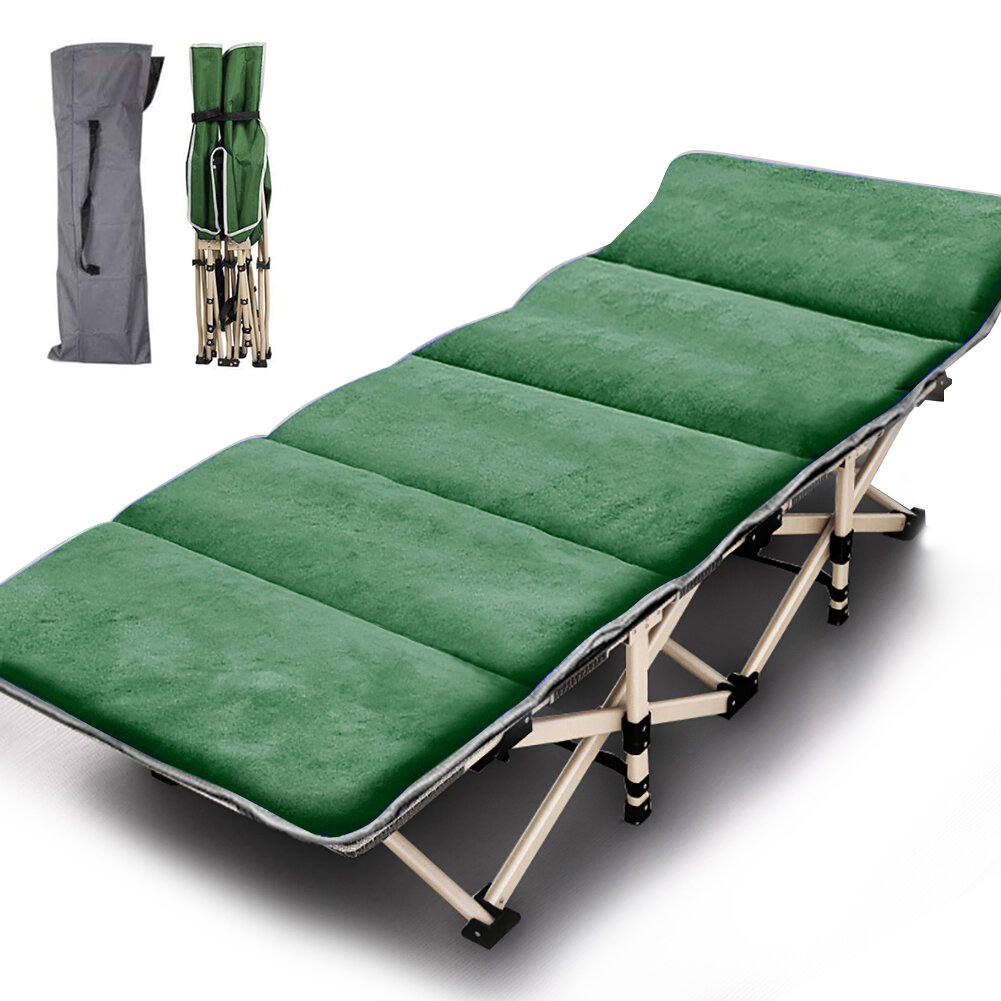 Folding Camping Bed Outdoor Portable Military Cot Sleeping Hiking Travel Carry