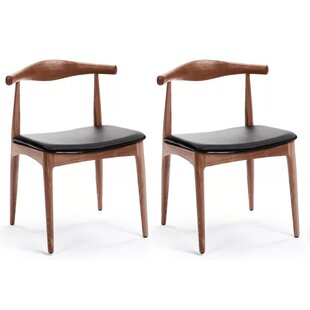Chancy Solid Wood Dining Chair (Set of 2) Corrigan Studio