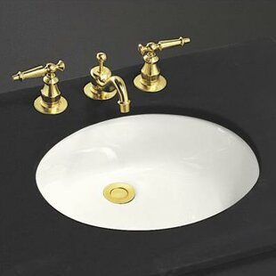Caxton Ceramic Oval Undermount Bathroom Sink with Overflow Kohler