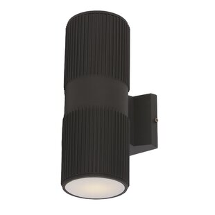 Bargain Leilla Modern 2-Light LED Outdoor Sconce By Orren Ellis