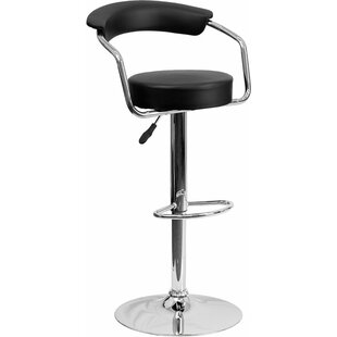 Eberhard Low Back Adjustable Height Swivel Bar Stool Ebern Designs