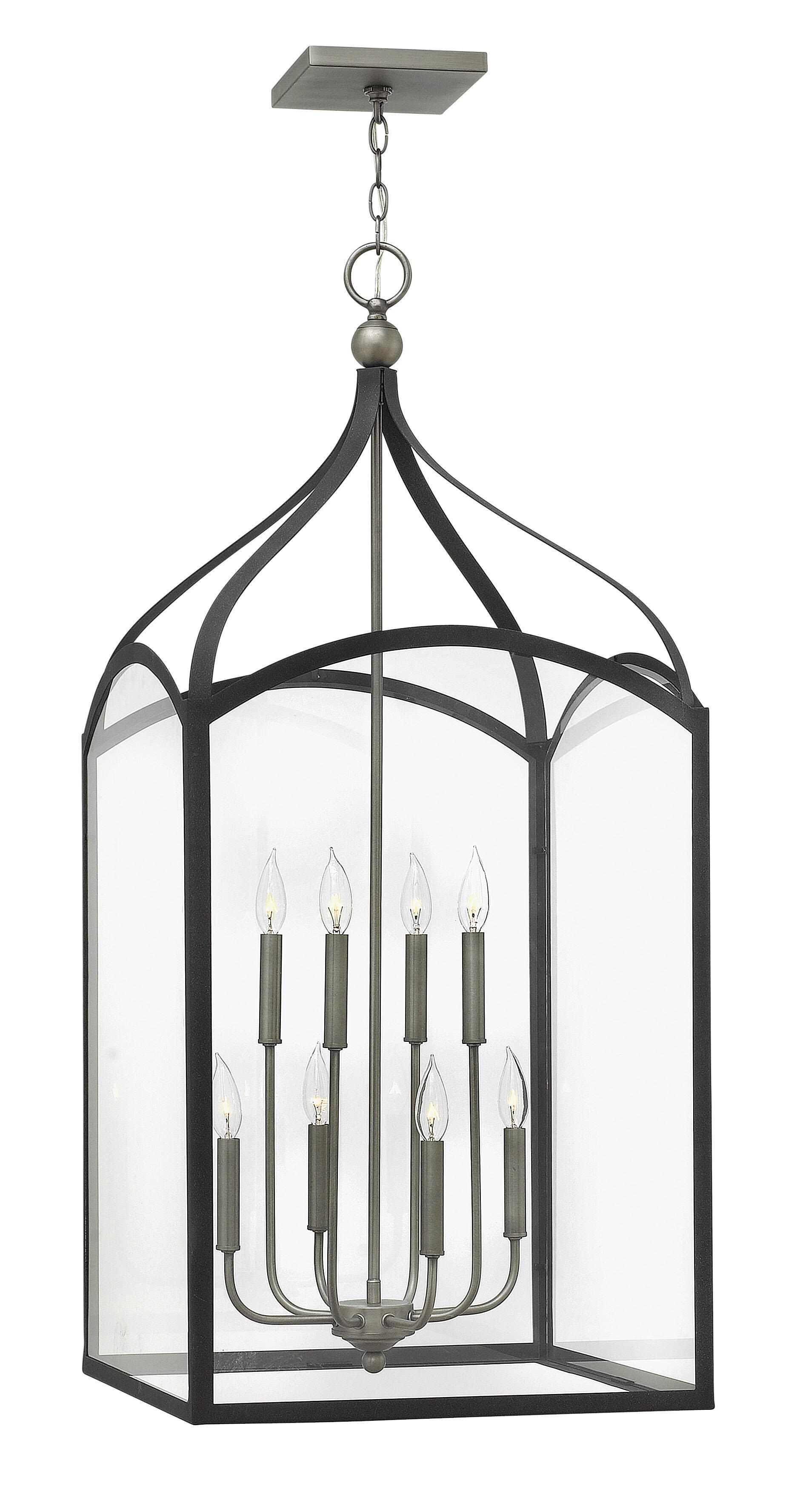 Gracie Oaks Jeremie 8 Light Lantern Rectangle Chandelier Reviews Wayfair