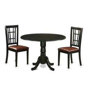 Gloucester 3 Piece Dining Set by Charlton Home