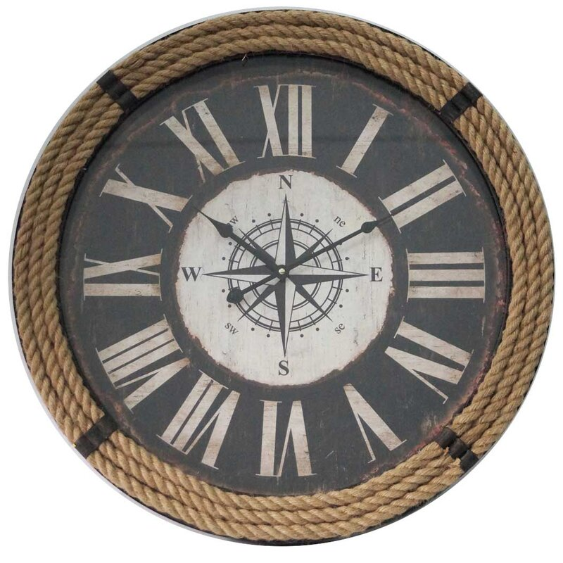 Breakwater Bay Amherst Oversized Nautical Rope 23 6 Quot Wall