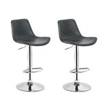 Anabelia Swivel Adjustable Height Counter Stool (Set of 2) by Latitude Run