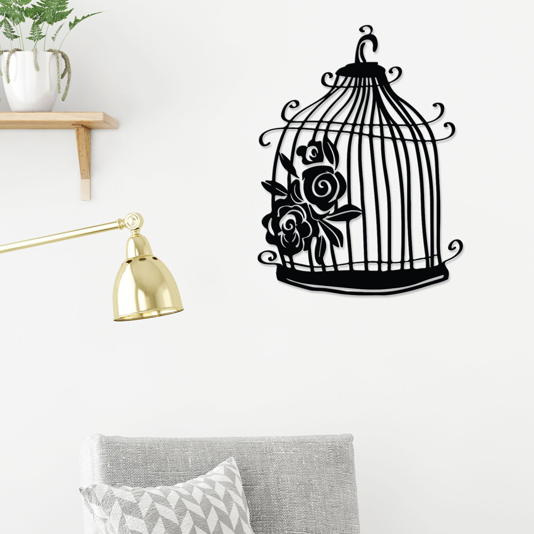Ophelia Co Birdcage Modern Metal Wall Decor Wayfair