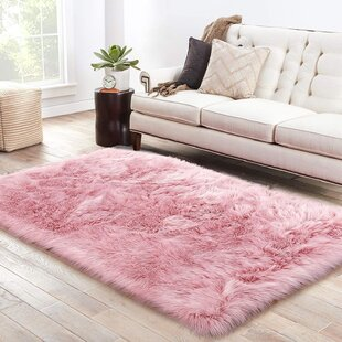 Faux Fur Pink Area Rugs Free Shipping