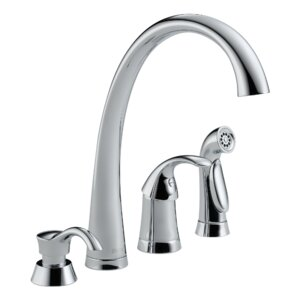 Pilar Single Handle Kitchen Faucet With Spray And Soap Dispenser