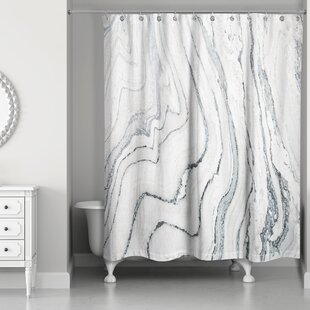 Kensa Marble Single Shower Curtain