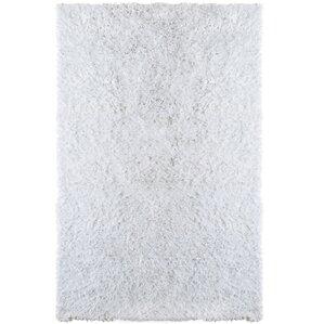 petal white shag area rug