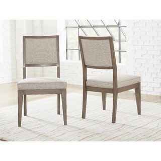 Whicker Upholstered Side Chair in Brown (Set of 2) by Ophelia & Co. SKU:DD556660 Price Compare