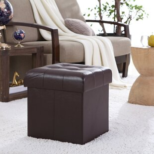 Lambertville Foldable Tufted Square Cube Foot Rest Storage Ottoman
