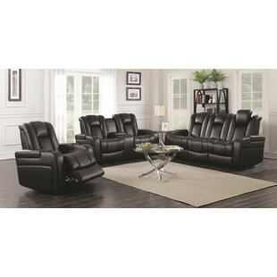 Tregre Power Reclining 3 Piece Living Room Red Barrel Studio