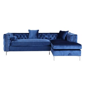 Modern Contemporary Navy Blue Sectional Sofa AllModern